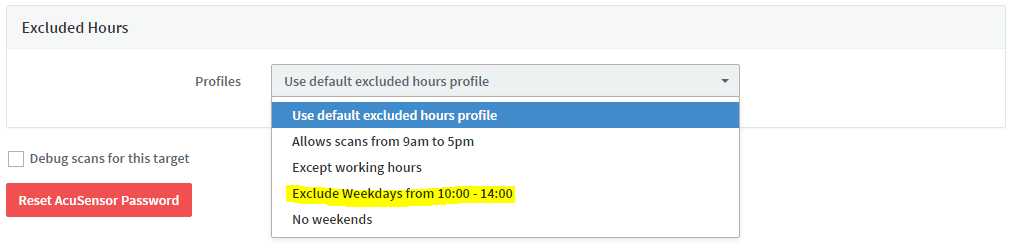 excluded hours